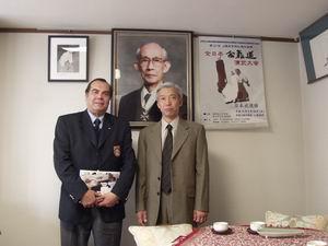 em 2002 no Aikikai Hombu com Moriteru Ueshiba